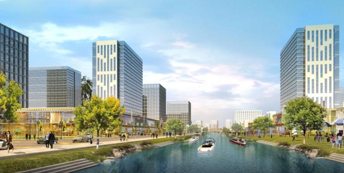 [福建]滨海科技创新区中央景观带景观绿化设计方案