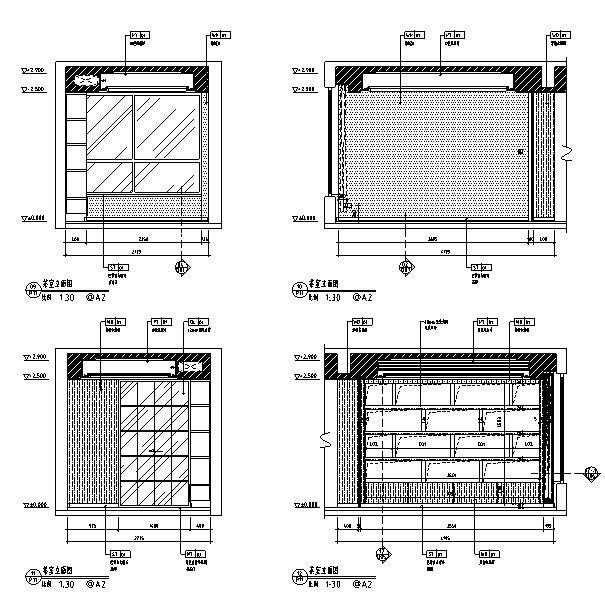 [深圳]现代风格样板房住宅空间设计立面图