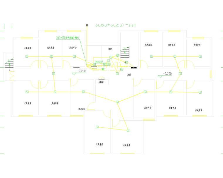 某高层住宅电气施工图(低压配电系统照明,防雷接地系统;电话系统;电视系统.宽带系统,门禁系统.)