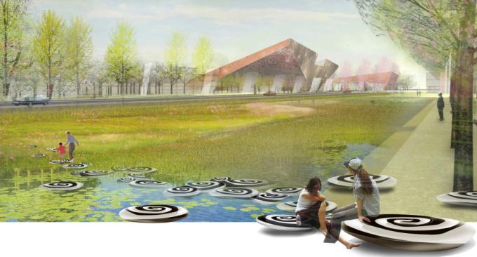 [江苏]生态雨水净化特色文化广场景观设计方案