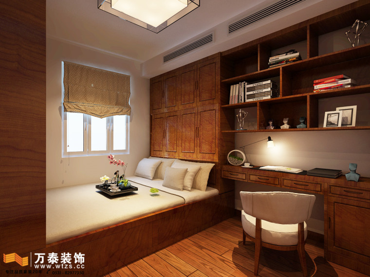 阳光100装修丨四室两厅现代中式风格装修