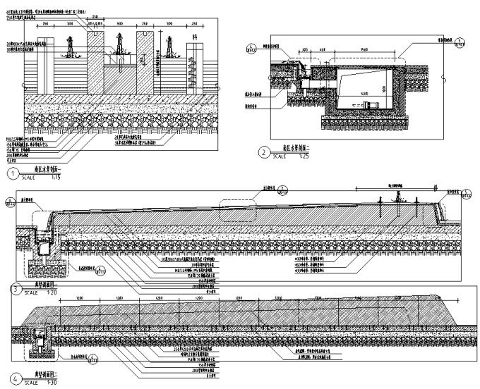 [浙江]流动地景自然生态大学校园景观规划设计全套图纸(方案+CAD施工图+PDF施工图+实景图)-南区水景设计详图