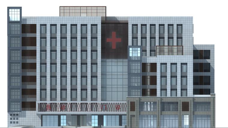 [湖南]高层现代风格常规项人民医院建筑设计方案文本(CAD+文本)_10