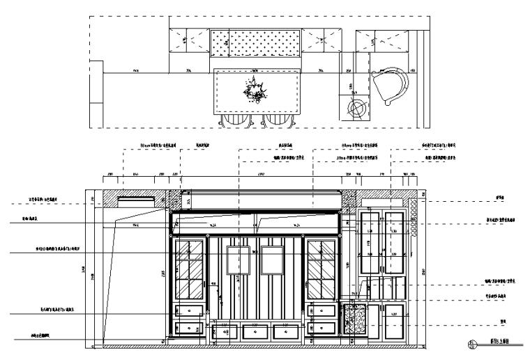[湖北]海赋江城天韵样板房设计施工图(附效果图)_2