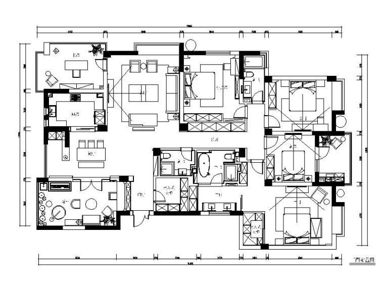 [杭州]现代简约精致四居室装修设计施工图(含实景图)
