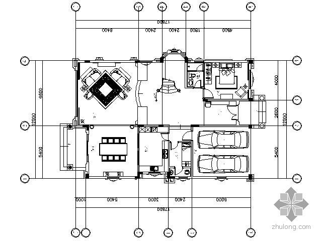 [广东]美式新古典别墅施工图(含效果)
