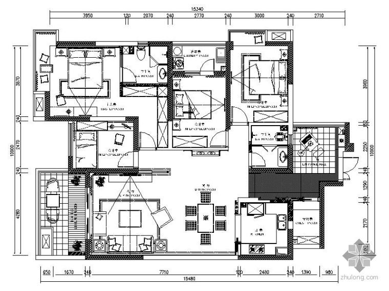 [成都]现代风四室二厅室内装修图
