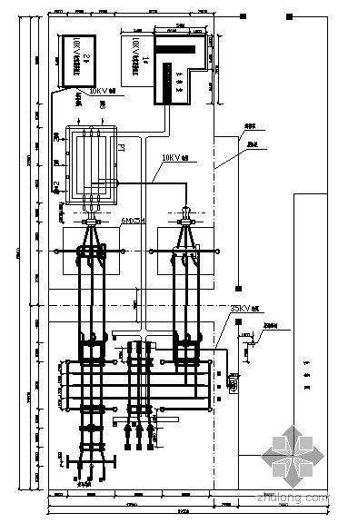 35KV变电站电气平面布置图