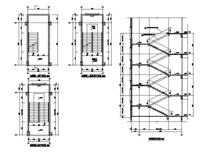 [浙江]五层长条形面砖外墙市级中学建筑施工图(含效果图)_13