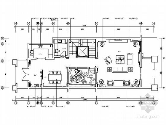[江苏]新中式三层别墅装修设计施工图(含效果)