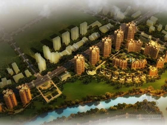 [成都]现代风格高层住宅及联排别墅区规划设计方案文本