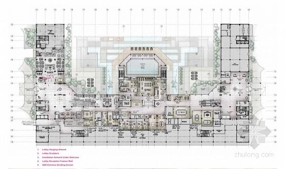 [辽宁]金融商贸中心高贵典雅现代风格五星级酒店室内设计方案
