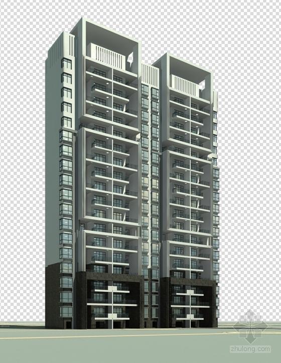 简欧风格住宅区规划效果图