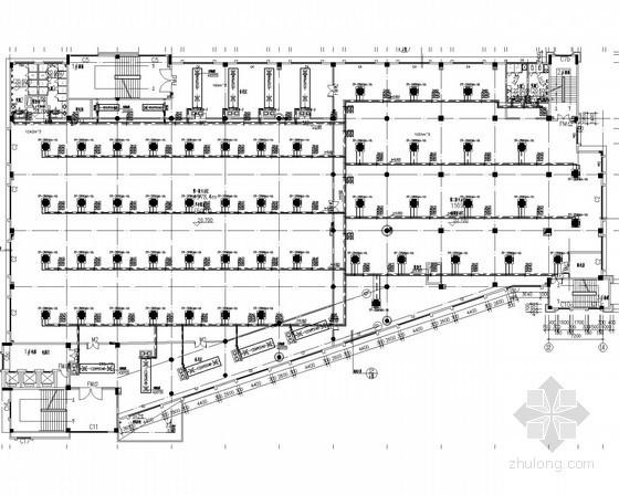 [广东]学校食堂建筑空调系统施工图(风冷热泵)