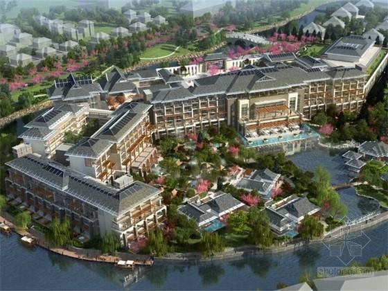 [云南]东南亚风格温泉酒店建筑设计方案文本(双语版)