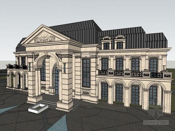 法式风格会所SketchUp模型下载