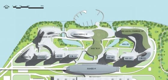 [广东]珠三角地区核心口岸交通枢纽规划设计方案文本-珠三角地区核心口岸交通枢纽规划总平面图
