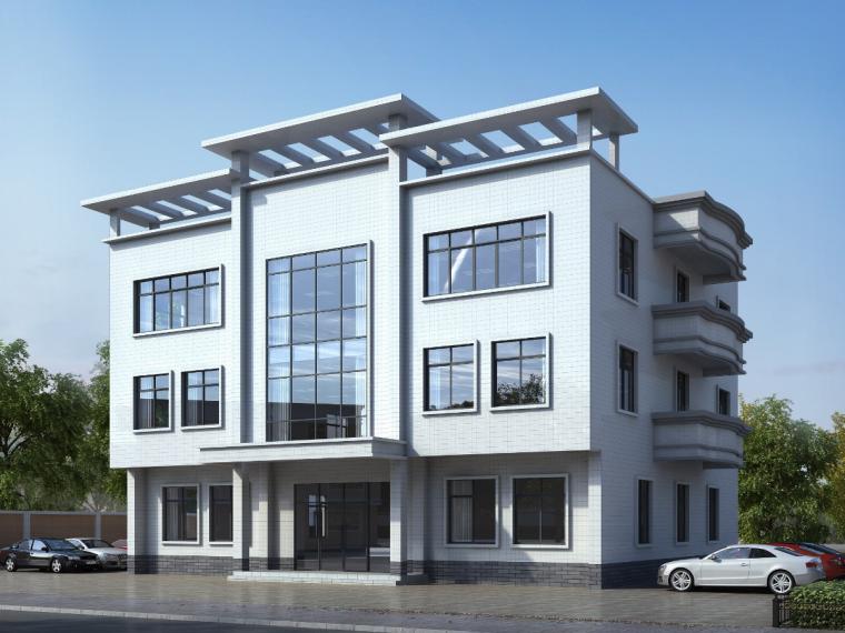 五层框架结构办公楼建筑施工图预算(含部分图纸,计算书)