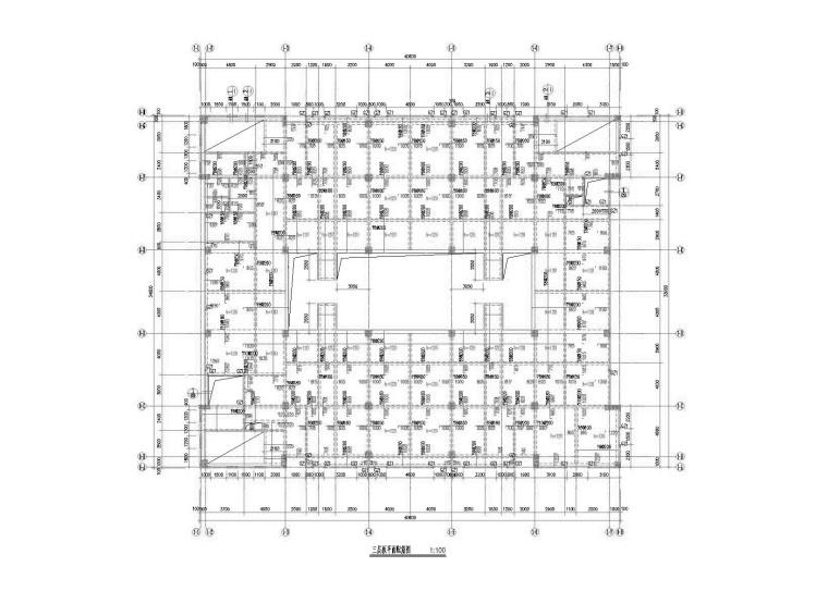 [福建]产业园生活配套区综合楼建筑结构图