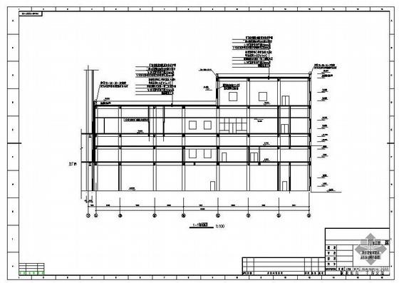 长春某电厂新建工程集控楼建筑结构图