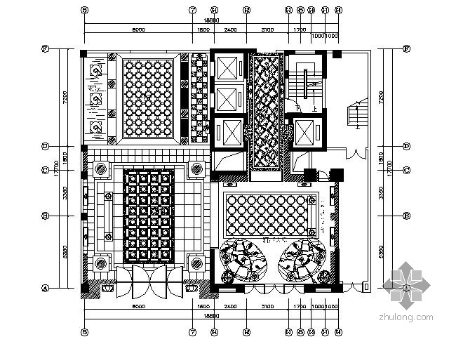 [深圳]某酒店大堂及客房施工图
