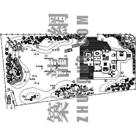 别墅景观平面设计