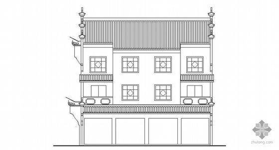 某徽派三层民居建筑施工图(3+1)