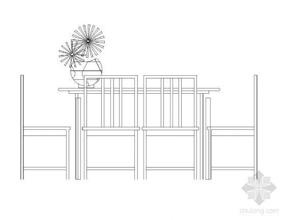综合桌椅图块集