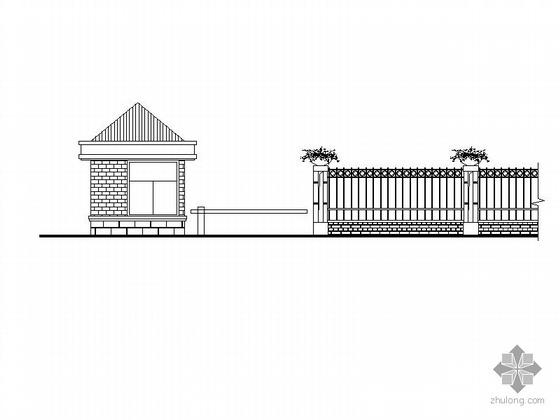 [合肥]某村落围墙及大门建筑施工图