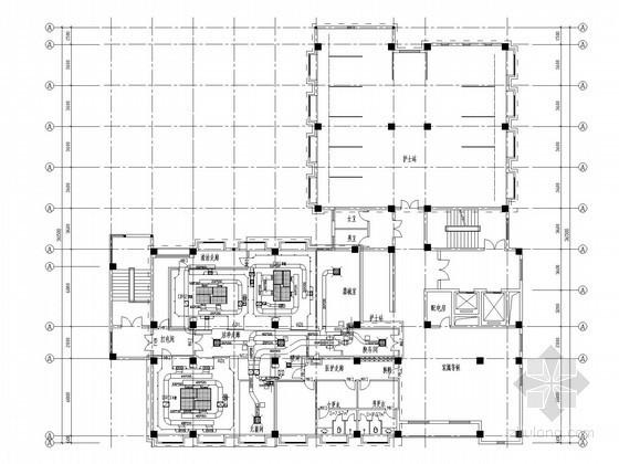 多层医院住院楼空调通风系统设计施工图(洁净设计)