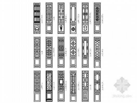 全套各式室内设计CAD图块