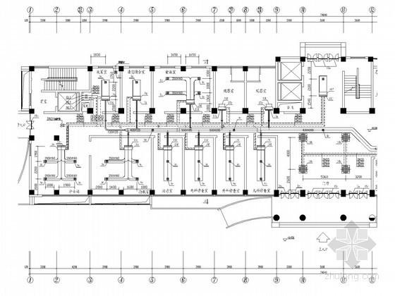综合小型办公楼空调系统设计施工图(风冷热泵机组)