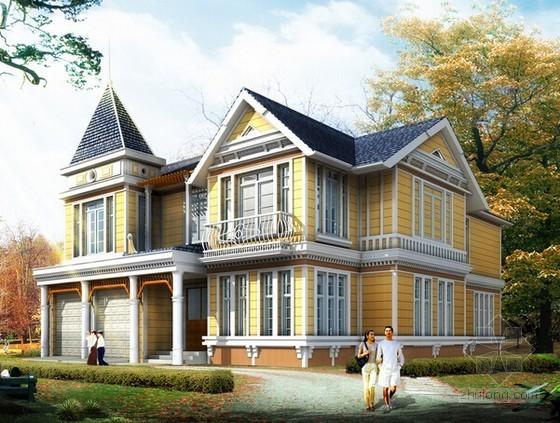 [广东]现代简约3层别墅建筑安装工程预算书(含施工图纸)