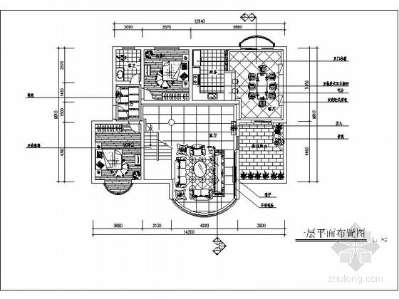 [重庆]某古典欧式跃层室内装饰施工图
