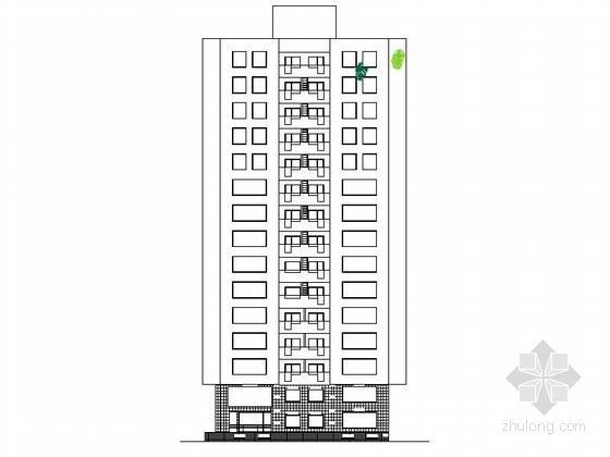 [蒙古]某十五层办公楼建筑施工图(含效果图)