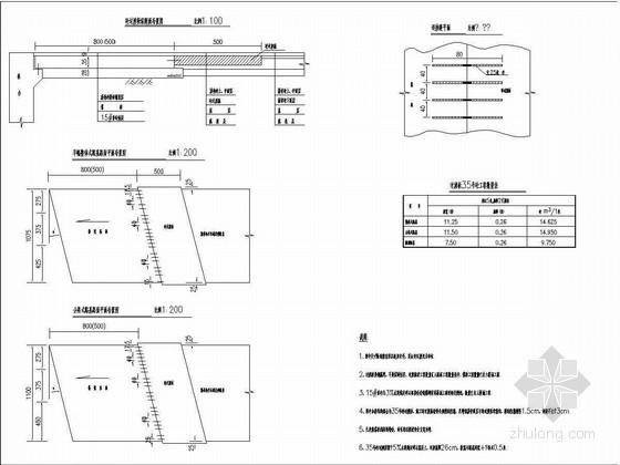 沥青混凝土路面与桥头搭板相接处理设计图
