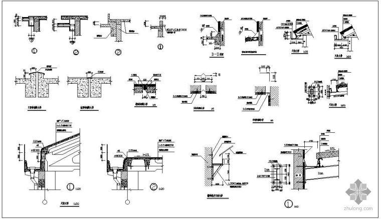 某伸缩缝天沟节点构造详图