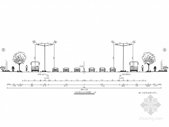 红线宽50m市政道路照明工程设计图(7张)