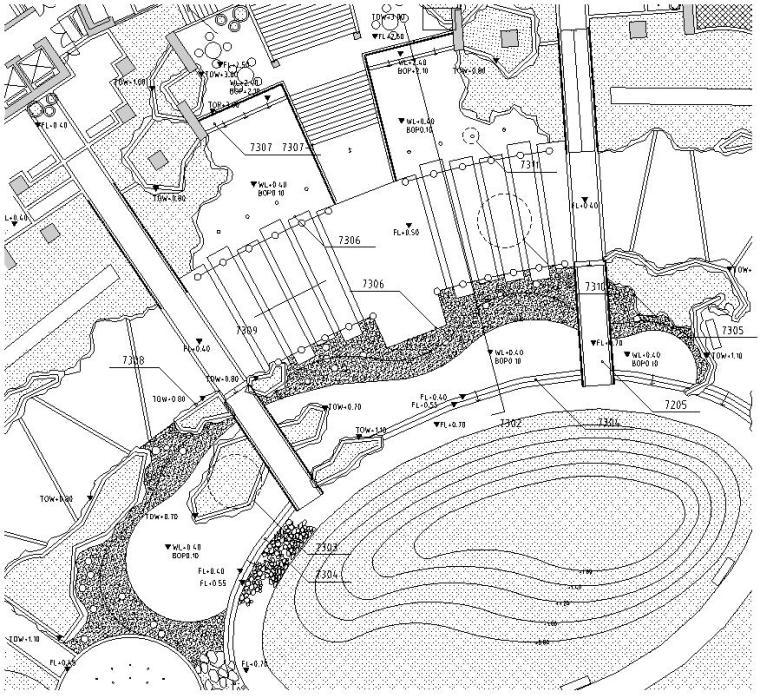 高档居住区绿地公园:居住区集中火箭深度图纸:施工图格式类型:cad地精图纸靴图纸图片