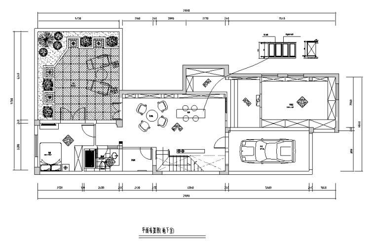 [江苏]美式混搭风格400平米联体别墅设计施工图(附效果图)