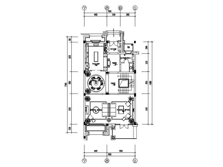【浙江】某别墅样板间设计施工图(室内方案软装)_1