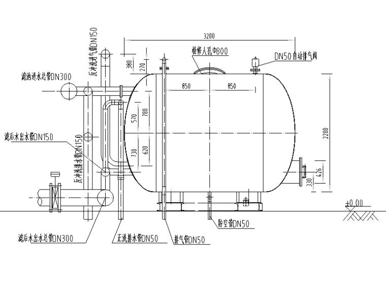 某钢制一体化供水工程图纸