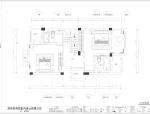 [深圳]简约中式别墅样板房室内设计施工图(含效果图)