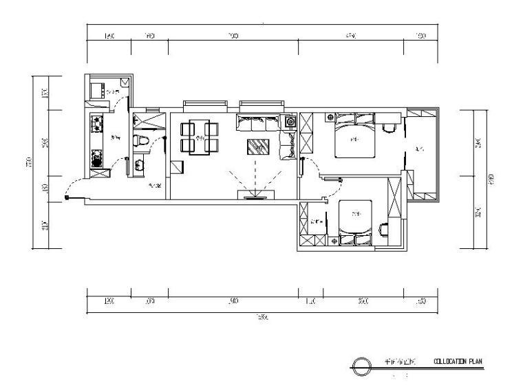 田园风格样板小屋设计CAD施工图(含效果图)
