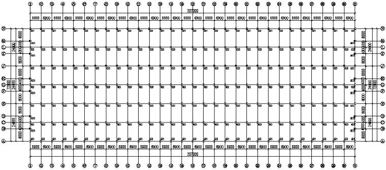 钢结构二层门式刚架厂房施工图(CAD,9张)