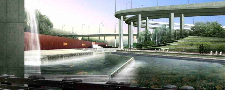 [江苏]苏州市沪宁高速公路西出入口景观规划方案设计(现代风格)-E段效果图2