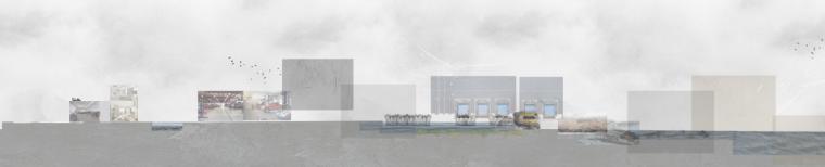景观剖面图PSD分层素材-会议中心3