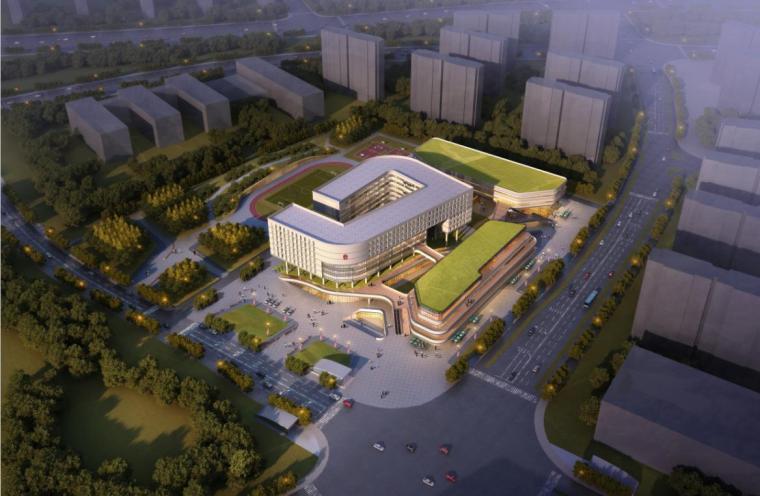 [南京]高层竖向线条肌理综合性社区服务中心建筑设计方案文本