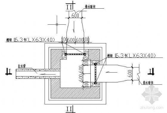 室外排水暗沟及排水暗沟与暗管连接井大样图