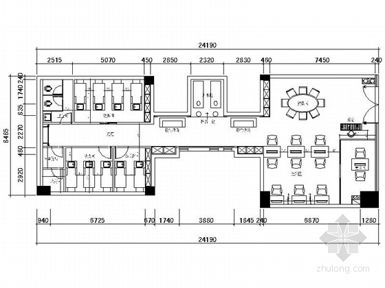 高级连锁现代风格理发店室内装修施工图(含效果)